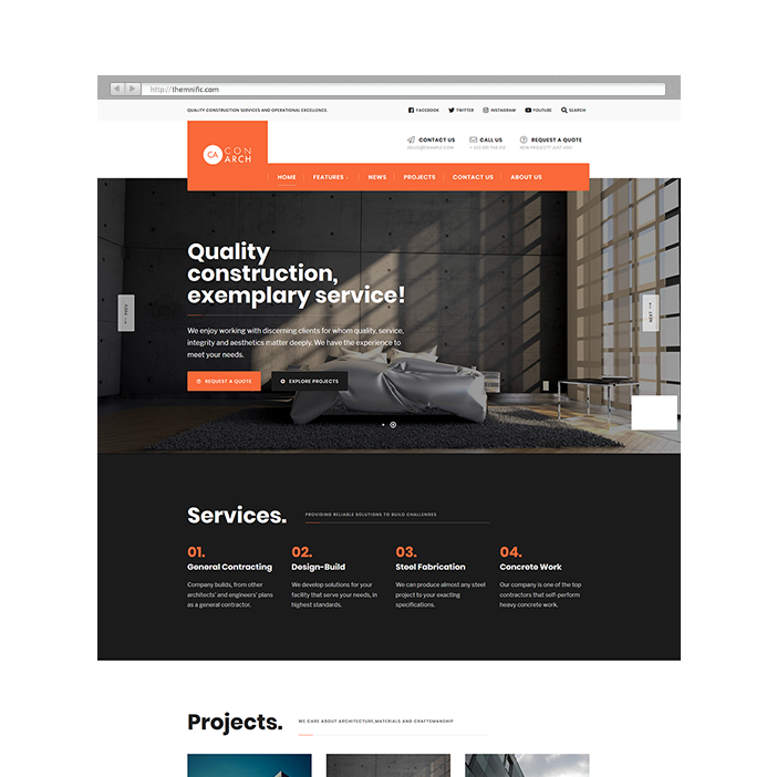 After Doing Extensive Research On Multiple Construction Factory Project And Websites We Have Developed This Theme Which Comes With A Native